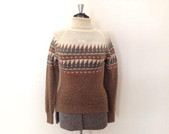 Vintage Turtleneck Sweater / Small/Med / Heathers