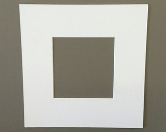 12x12 Square Mats with White Core Bevel Cut for 8x8  Pictures