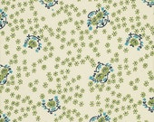 SALE - SHELBURNE FALLS by Denyse Schmidt - Sparse Floral (Willow) - 1 Yard - Quilting Weight Cotton Fabric