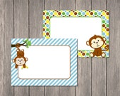 Monkey Food Label Tent Cards | DIY Printable | Instant Download | Jungle Theme
