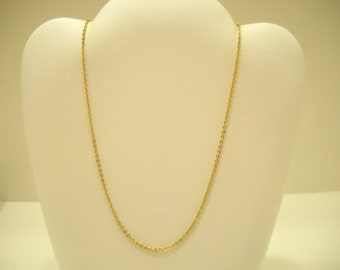 """Vintage 15"""" Dainty Gold Tone Chain Necklace (2329)"""
