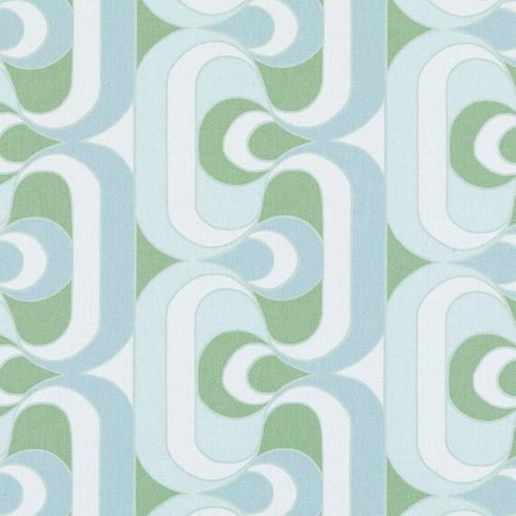 Aqua Geometric Upholstery Fabric by the Yard Abstract Aqua