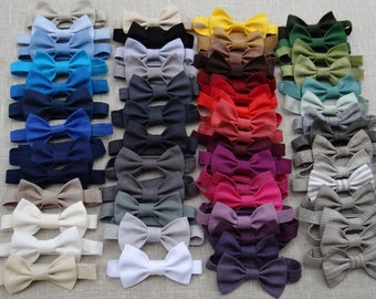 Baby boy linen bow tie ring bearer bow tie boy natural accessories first birthday neck tie many color rustic bow tie kids toddler man formal