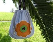 Tote  cotton bag shopping bag shoulder bag travel bag sport bag  flower