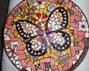 Butterfly mosaic etsy
