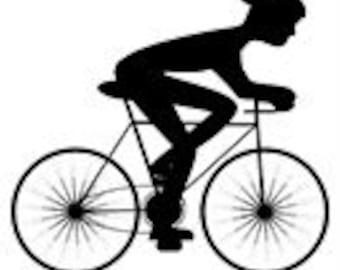 Needlepoint Canvas Biker Biking