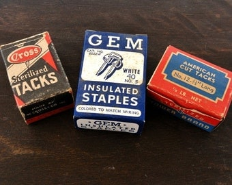 Vintage Paper Boxes, Hardware, Supplies, Ephemera, Advertising, Scrapbooking, Collectibles