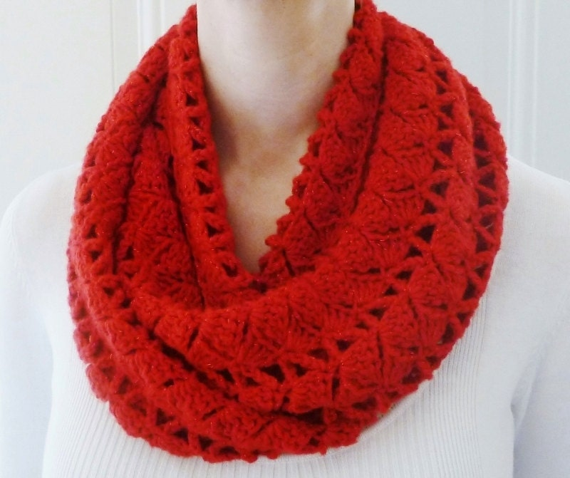on sale real infinity scarf cherry infinity scarf