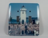 Sale 50 pct off Light Switch Cover, Boyne City Michigan Lighthouse Design, Home Décor, Photograph