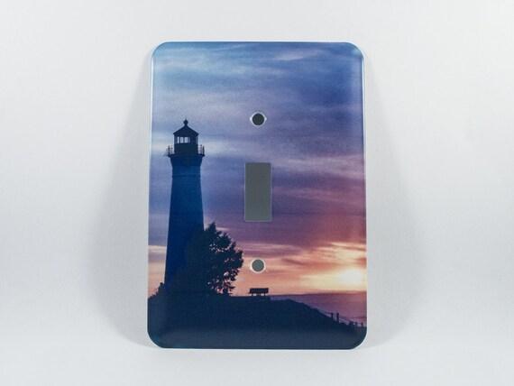 Light switchplate crisp pt michigan lighthouse sunset design for Lighthouse switch plates