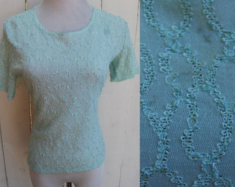 LOOSE THREAD Mint Green Short Sleeve Knit Shirt