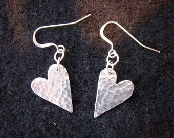 Small Heart Ear rings.