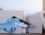 SHAMANIC DANCE original painting by Paulina Varregn, ooak wall decor, acrylic, canvas on polygonal frame