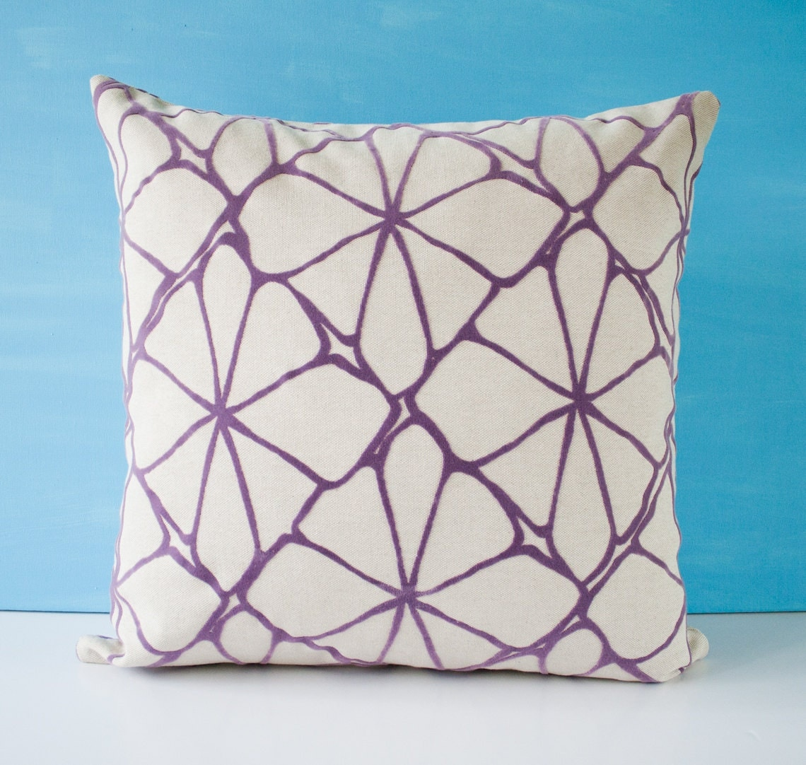 Fancy Throw Pillow Patterns : Purple pattern pillow cover decorative pillow throw pillow