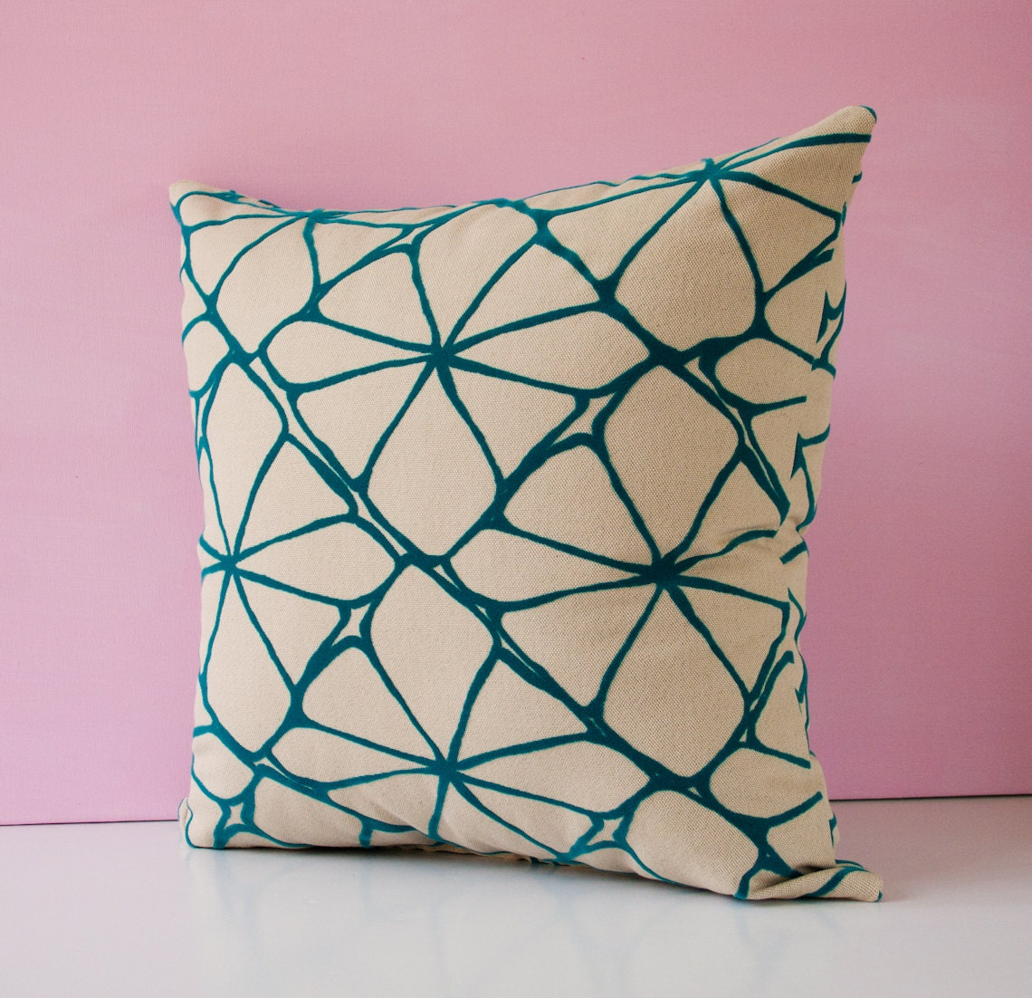 Turquoise pattern pillow cover decorative pillow throw