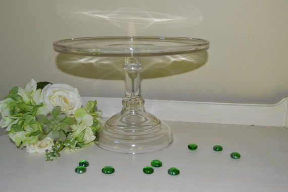clear wedding cake stand clear glass 10 pedestal cake plate stand wedding by 12881