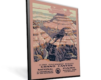 National Parks - Grand Canyon WPA Poster on 9x12 PopMount Ready to Hang FREE SHIPPING 310010912