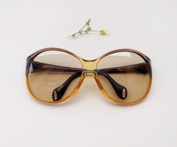 Carl Zeiss Eyeglass Frames : Carl Zeiss Vintage frames / Marwitz brown and amber glasses