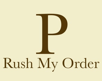 Rush My Order - USA Residents Only