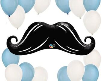 Mustache Little Man Balloon Kit