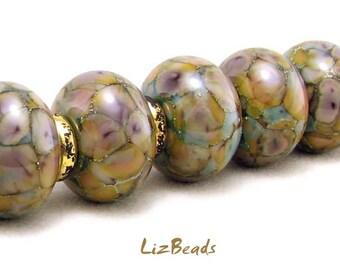 SRA Handcrafted Artisan Lampwork Bead Set - DESERT CHAMELEON