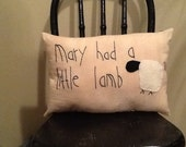 Mary had a Little Lamb Pillow