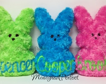 Large Personalized Fluffy Easter Marshmallow Bunny Soft Toy