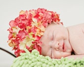 DIY ebook How to Make a Newborn Infant Hydrangea Petal Hat Beanie Kufi Photo Prop baby pdf instructions pattern no sewing
