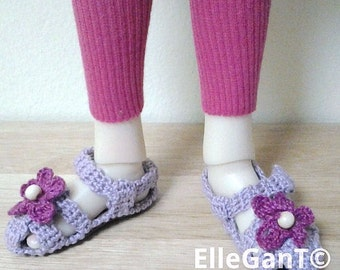 Handmade sandals for Kaye Wiggs dolls MSD size