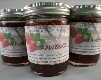 Jam or Jelly Gift Pack. Your Choice of 3  homemade flavors of Jams Jellies fruit spread  FREE SHIPPING fruit preserves