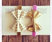 Sparkle and shine holiday bow headband Christmas set