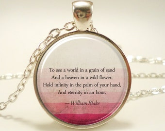 Personalized Quote Necklace, Custom Pendant For Song Lyrics, Poem, Or Text (1743S1IN)
