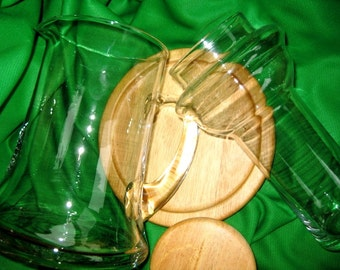 Vintage Iced Water Pitcher Great, Gifts under 50 women, Iced Beverage Pitcher Great