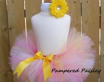 Easter - Birthday Baby tutu -  infant/toddler extra fluffy tutu with matching headband