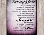 Bible Verse, I am deeply loved, Inspirational quote printable, Scripture printable, Home Decor, DIY, Office Printable, Instant Download