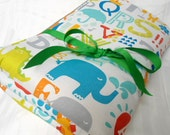 """Padded Baby Play Mat Pad Floor Blanket Alphabet Animals Baby Quilt Tummy Time Gift Personalize Baby Shower Nap Mat  35"""" x 35"""" or 40"""" x 35"""""""