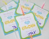 INSTANT DOWNLOAD - Printable You make my heart glow Valentine Card - Digital Design