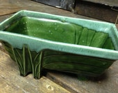 Jade Green Art Deco Planter by Cookson Pottery Co