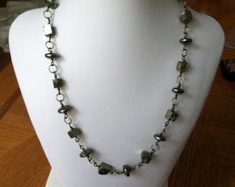 Maverick Jewels-pyrite and pearls