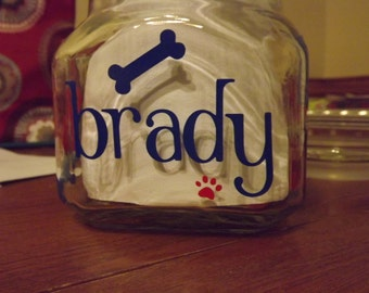 Personalized/Custom Dog Treat Jars-Glass or Plastic