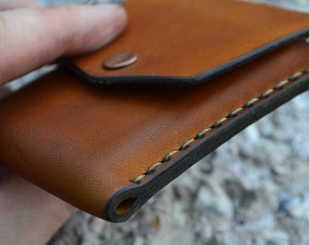 Leather Wallet-Men Wallet-Leather Card Holder Leather-Handmade Brown