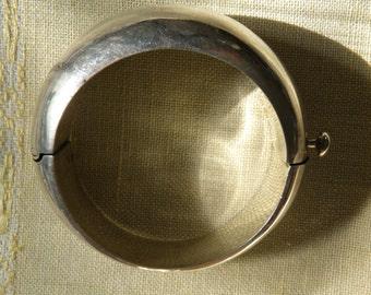 Mid Century Modernist Sterling Silver Bracelet