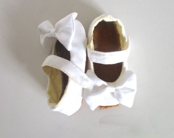 White Baby Shoes Mary Janes Christening Shoes Baptism Shoes Baby Shoes