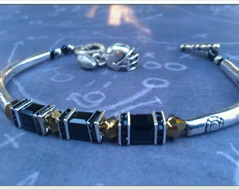 Inspired By The New Orleans Saints Crystal Bracelet