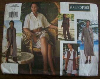 Vogue 1343, Ladies Dress, Ladies Vest, Ladies Jumpsuit