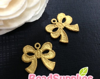 CH-ME-02267 - Gold plated, Lace ribbon V1, 4 pcs