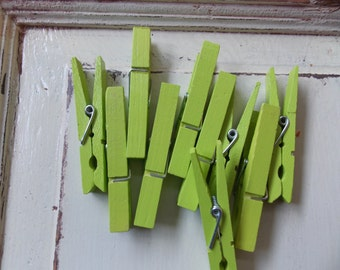 Key lime green clothespins