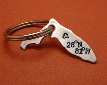 You'll find my Heart at Walt Disney World - A Hand Stamped Aluminum Keychain