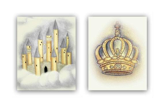 Items Similar To Castle Amp Crown Prince Nursery Decor