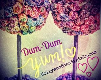 Rainbow Dum Dum Gum Ball Candy Land Centerpiece Topiary, Candy Buffet Decor, Candy Arrangement Wedding, Mitzvah,